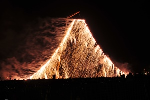 大富士滝花火の写真